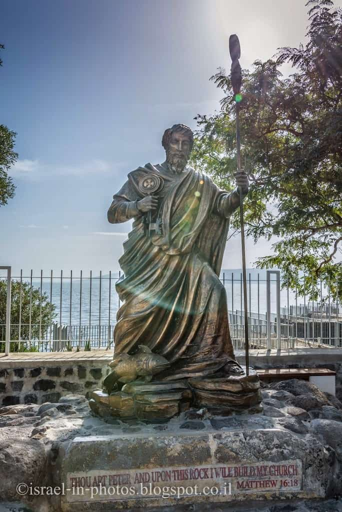 Statue of Saint Peter at Capernaum