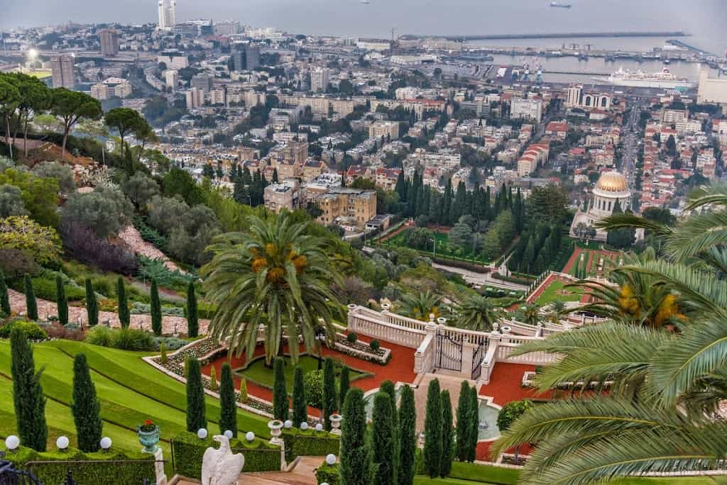 Bahai Temple and down town