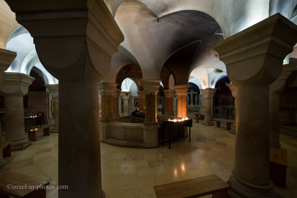 Crypt in the Abbey of the Dormition in Jerusalem, Israel