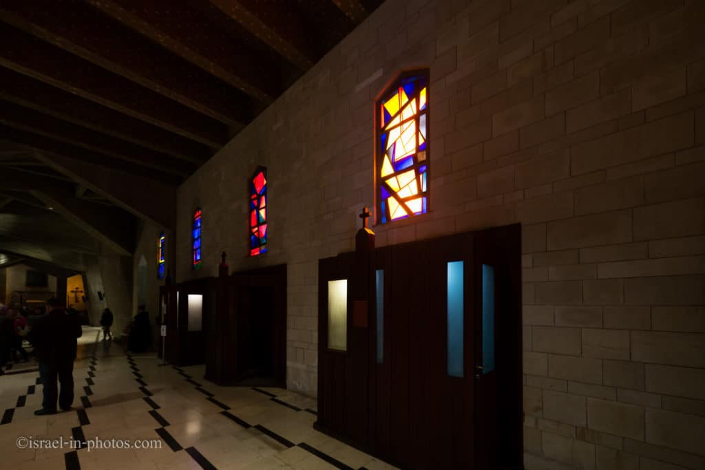 The lower level at the Church of the Annunciation