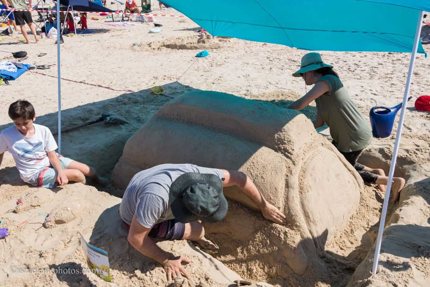 Sand Sculptures Competition at Beit Yanai beach, Israel