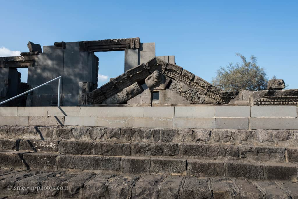 The entrance to the Synagogue, Korazim National Park, Israel