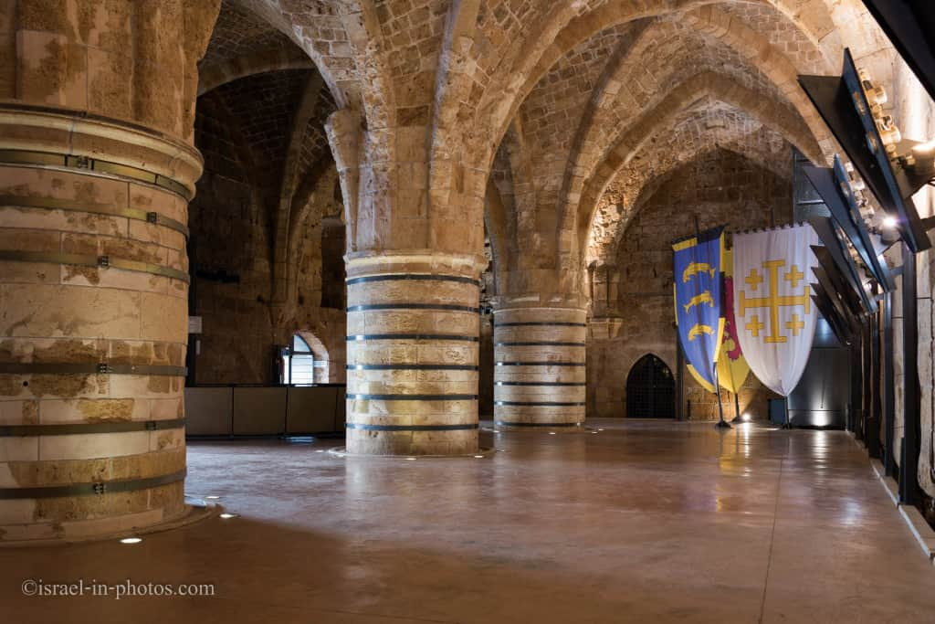 The Crusader's dining room in Hospitaller Fortress, Old Acre