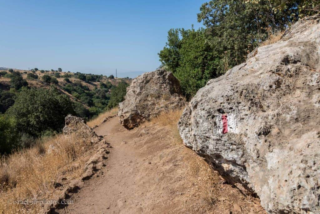The red trail at Banias