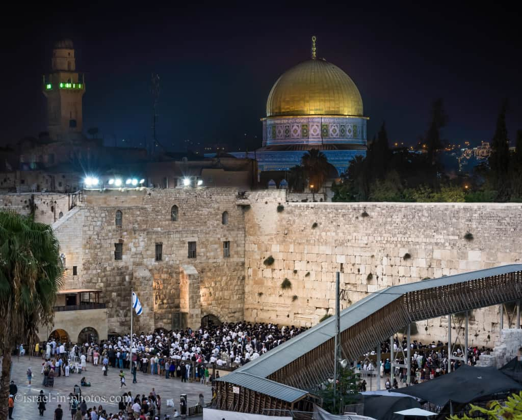 Photo of the Western Wall from my From Day to Night Series