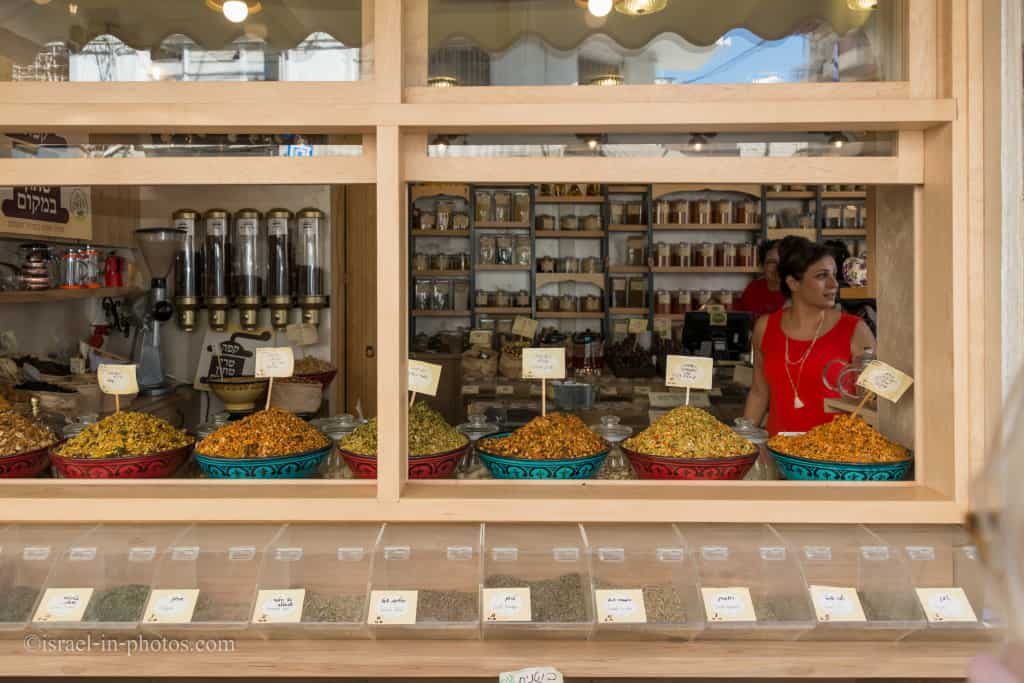 Herbs, spices and nuts at Levinsky Market