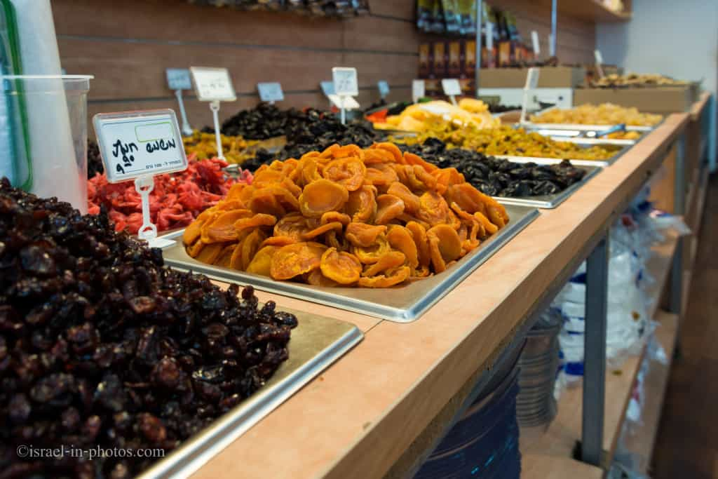 Dried fruit in a store at Kfar Saba