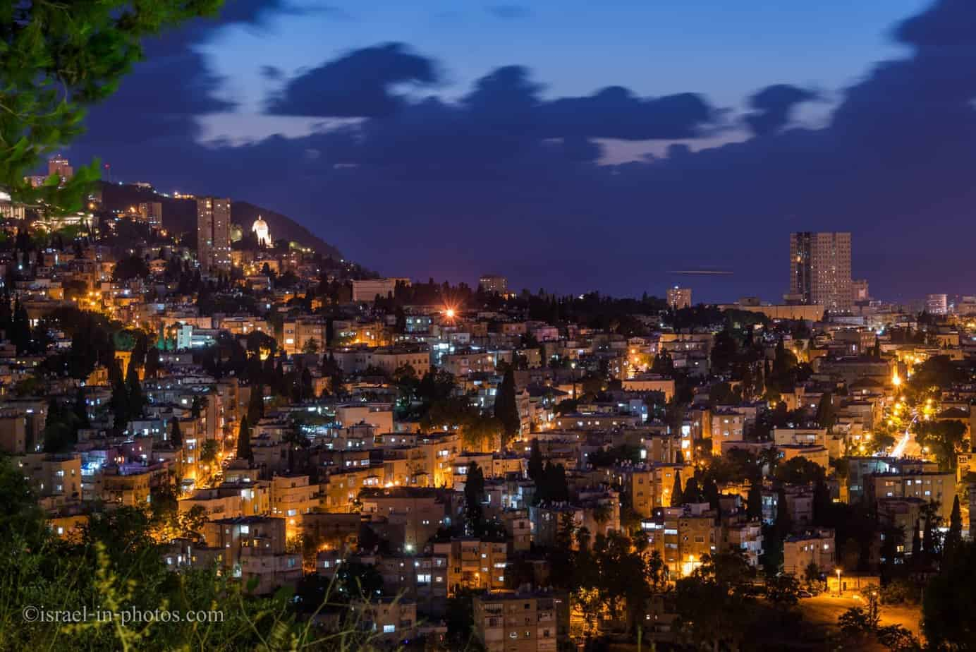 Cityscape from viewpoints in Haifa