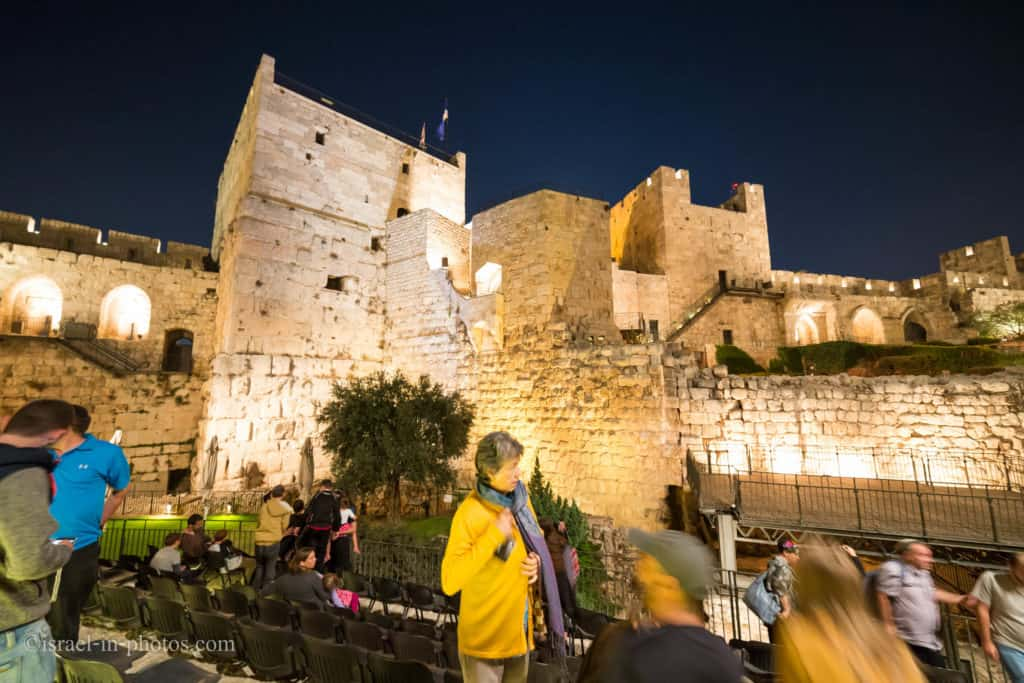 Tower of David by night