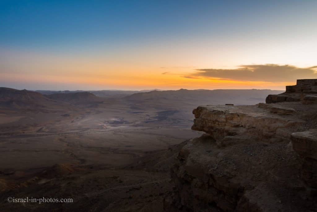 Hiking Along The Rim Of Ramon Crater