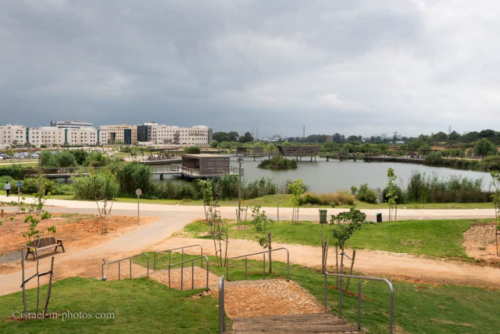 Hod HaSharon Park and Southern industrial area