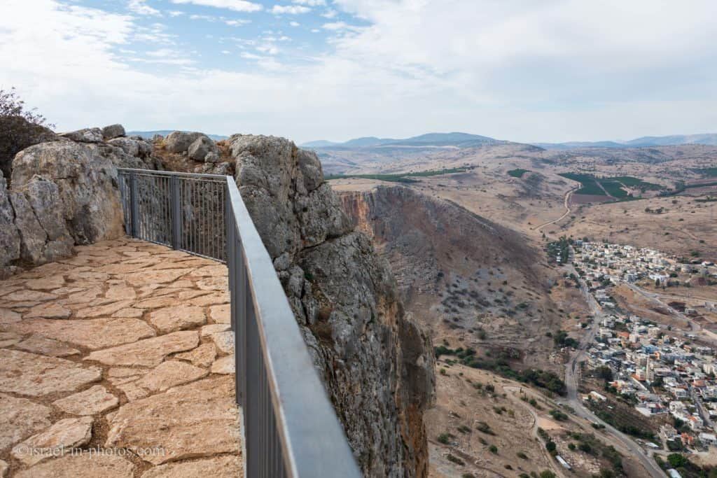 Carob Viewpoint at Arbel Nature Reserve And National Park, Israel