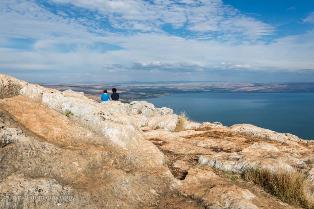 Sea of Galilee view from Arbel National Park