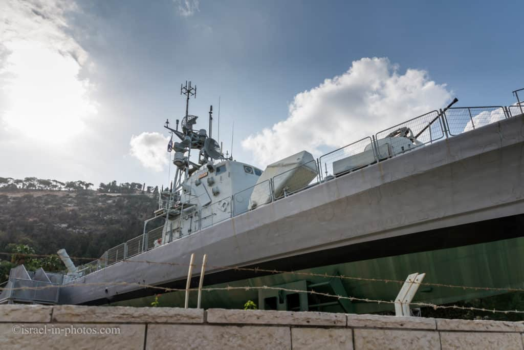 The missile boat at Clandestine Immigration and Naval Museum in Haifa, Israel
