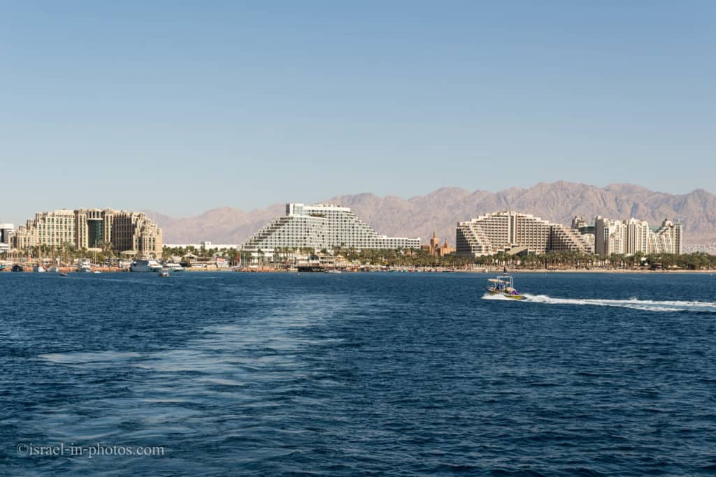 Sailing on a boat at the Red Sea Eilat, Israel