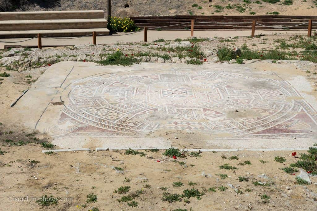 Mosaics next to the Canaanite gate