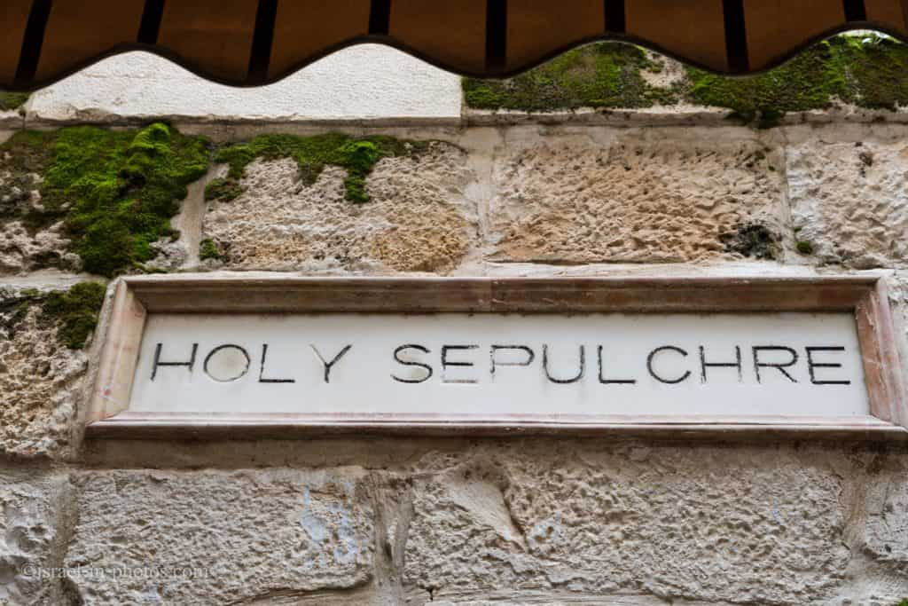 Holy Sepulchre Sign In The Old City