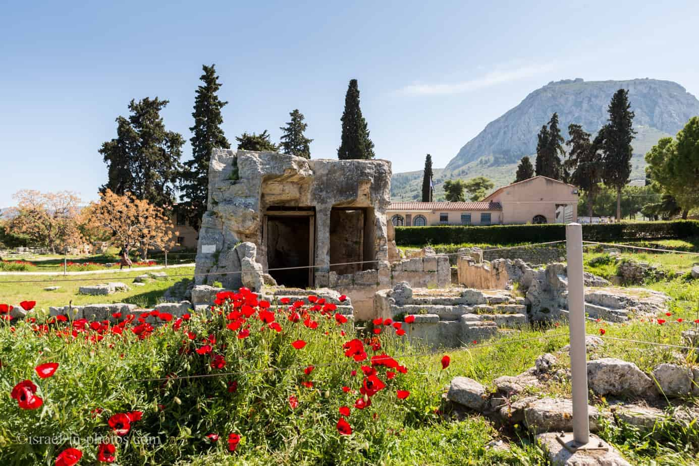 At Ancient Corinth in Greece, Europe