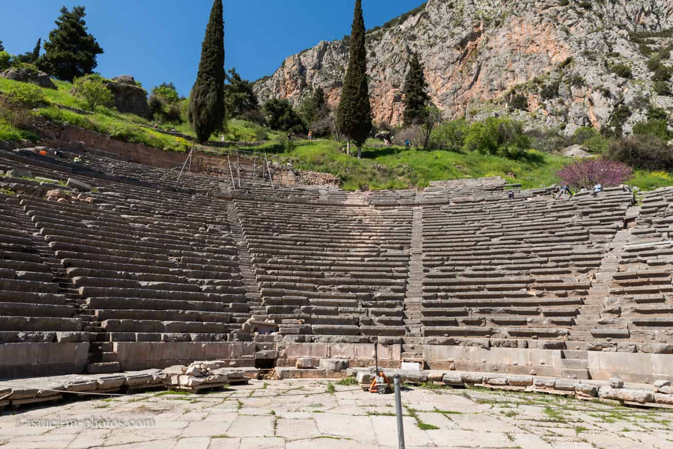 At Delphi archeological site in Greece, Europe