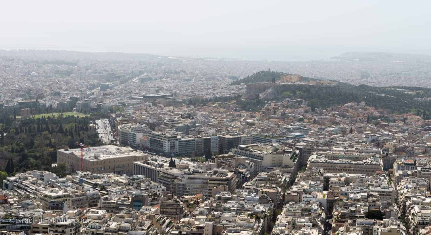 At the top of Mount Lycabettus, Athens in Greece, Europe