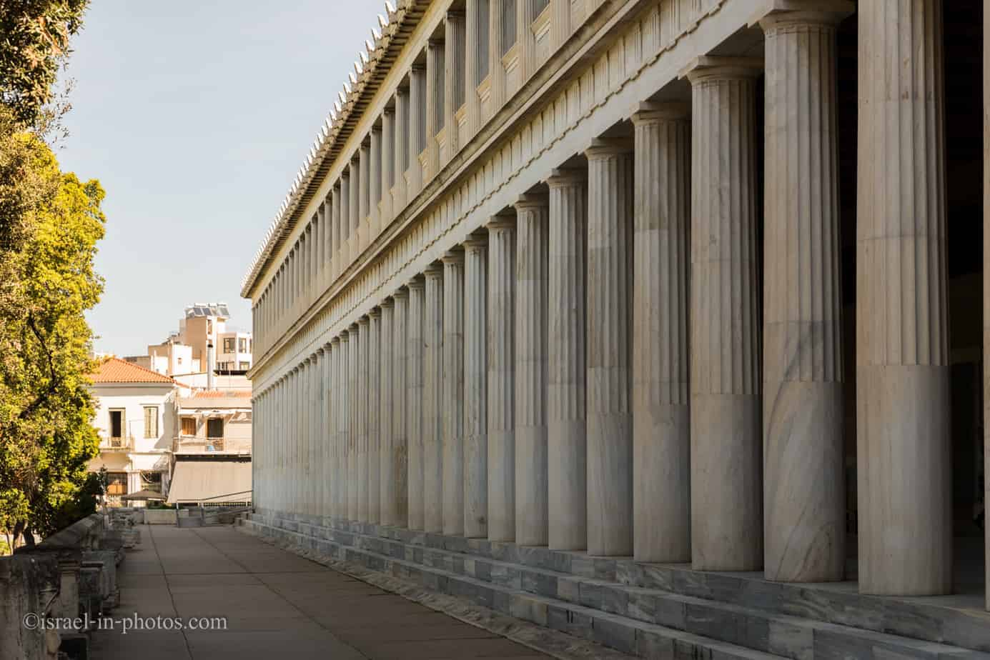 Visiting Ancient Agora of Athens in Greece, Europe