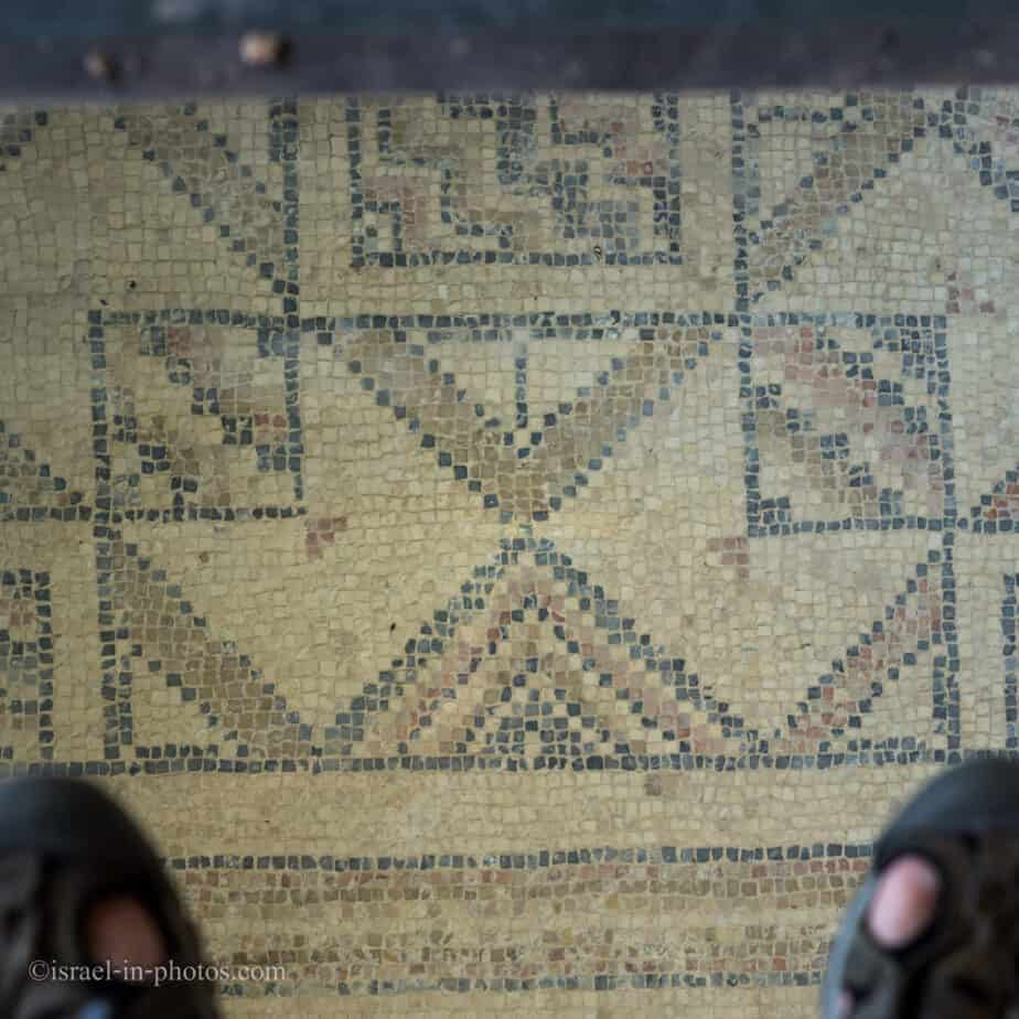 Mosaic in the ancient synagogue