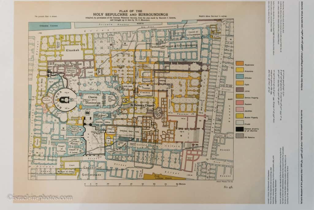 Site Plan of Church Of The Holy Sepulchre