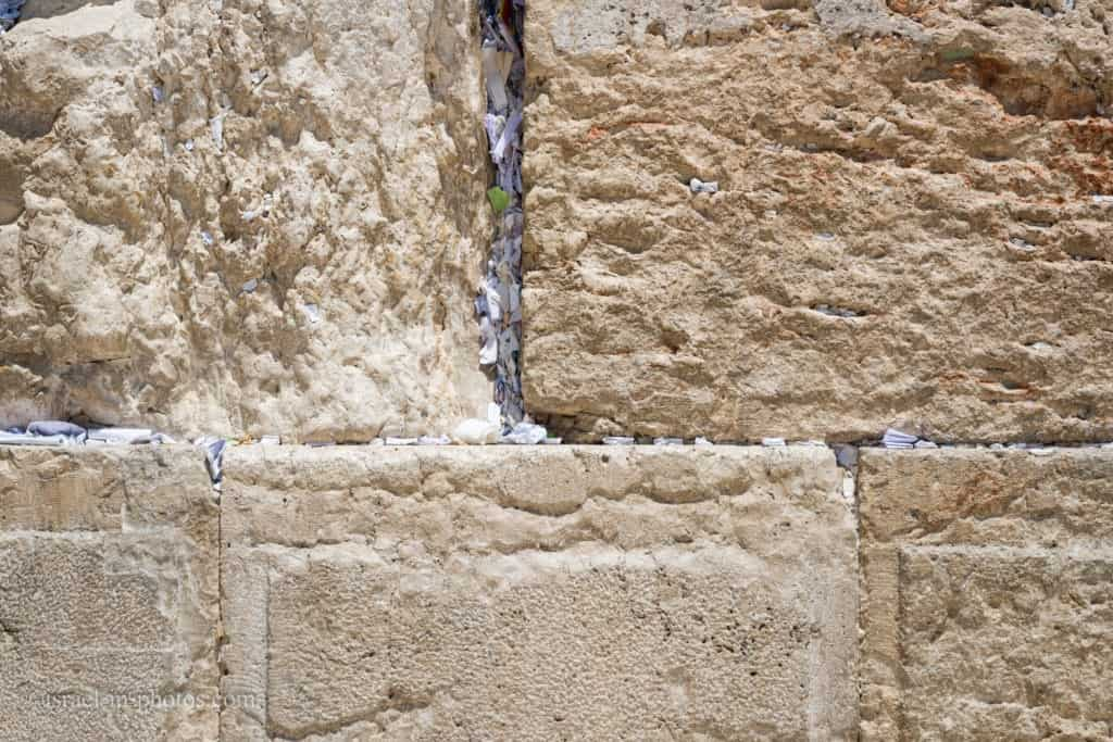 Notes with Prayers at the Western Wall