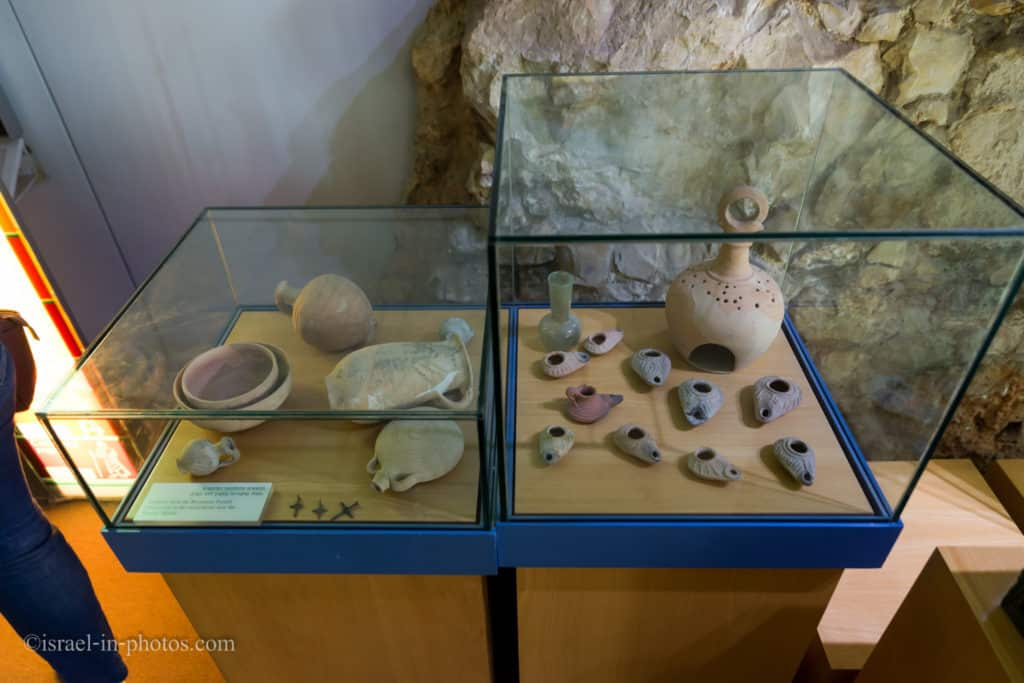 Artifacts from the Byzantine period at Davidson center