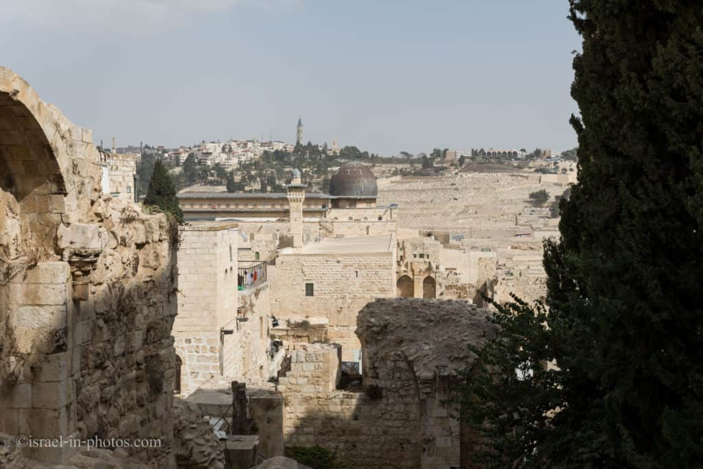View of  Al-Aqsa Mosque from the Jewish Quarter
