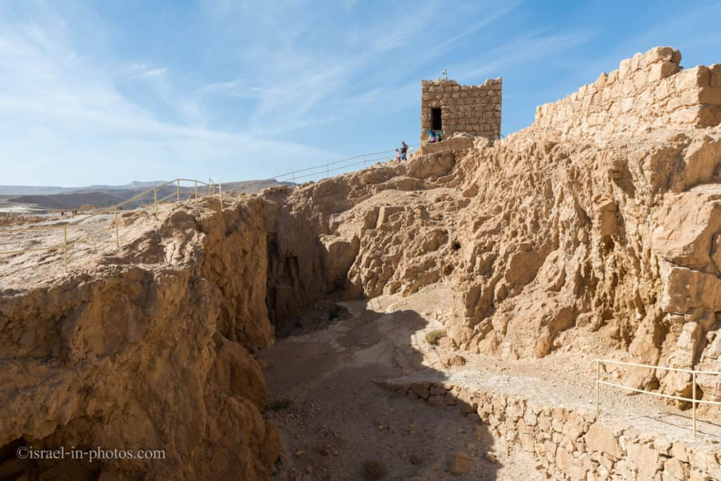 Remains of a quarry in Masada National Park