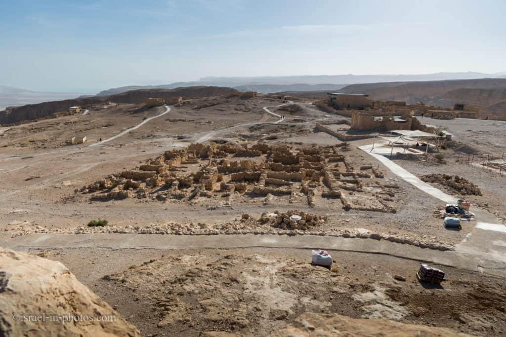 View of the Officer's Quarters at Masada