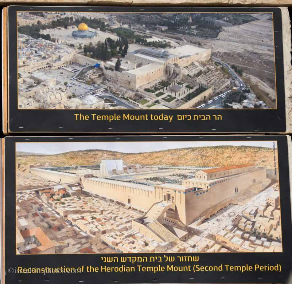 Temple Mount today vs during The Second Temple period