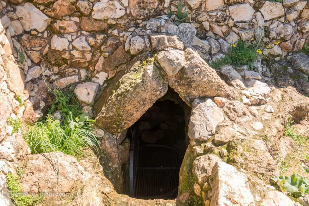 Entrance to the The Hiding Space at Tel Yodfat