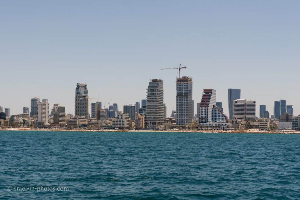View of Tel Aviv from a ship