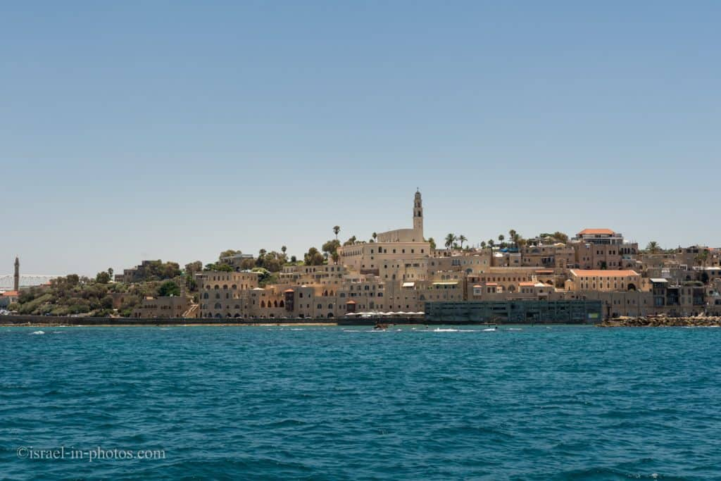 View of Old Jaffa from a boat