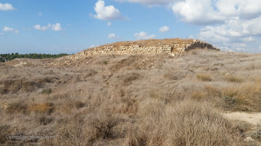 Foundation of the palace's central structure at Tel Lachish