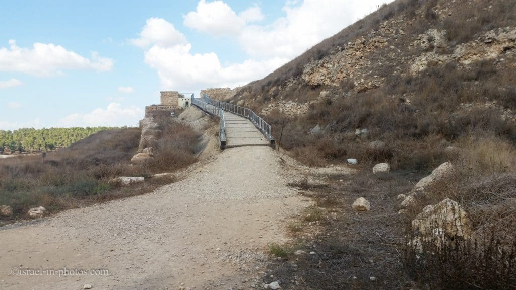 The entrance to Tel Lachish