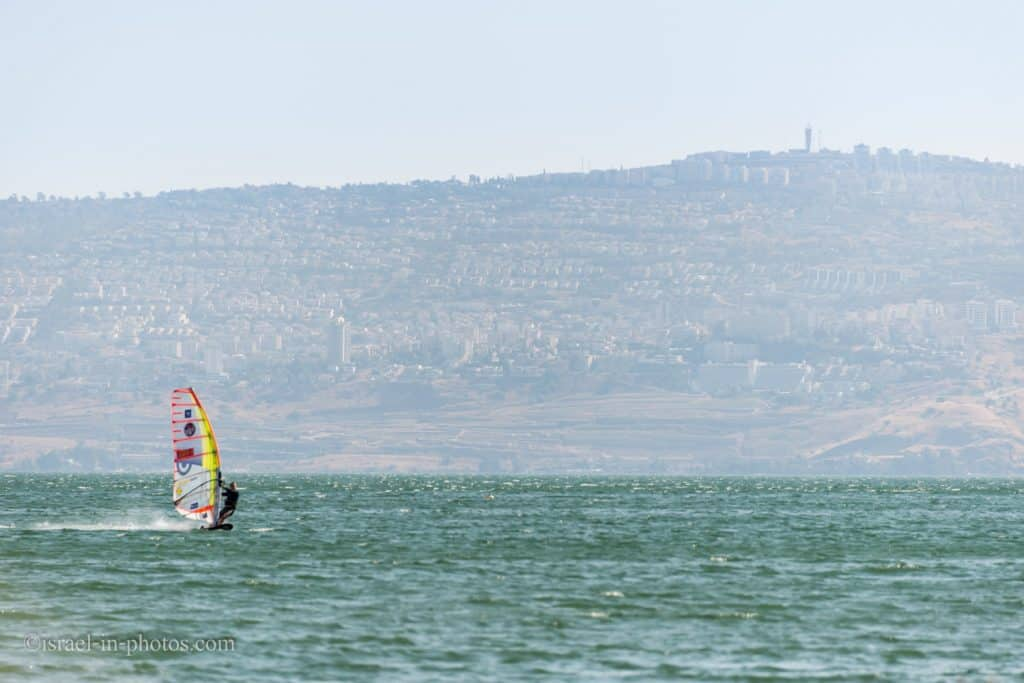 Water recreation activities at Sea of Galilee