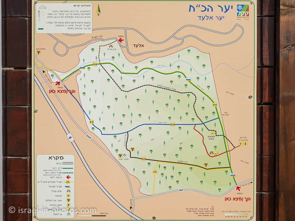 Map of Kule Forest (Givat Koah Forest)