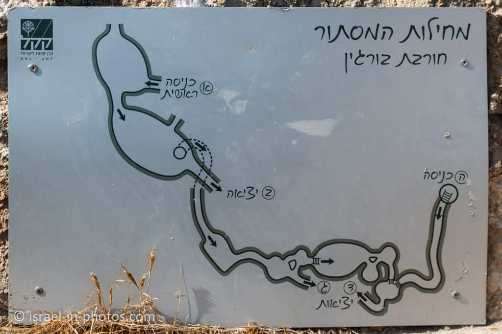 Map of the hiding caves