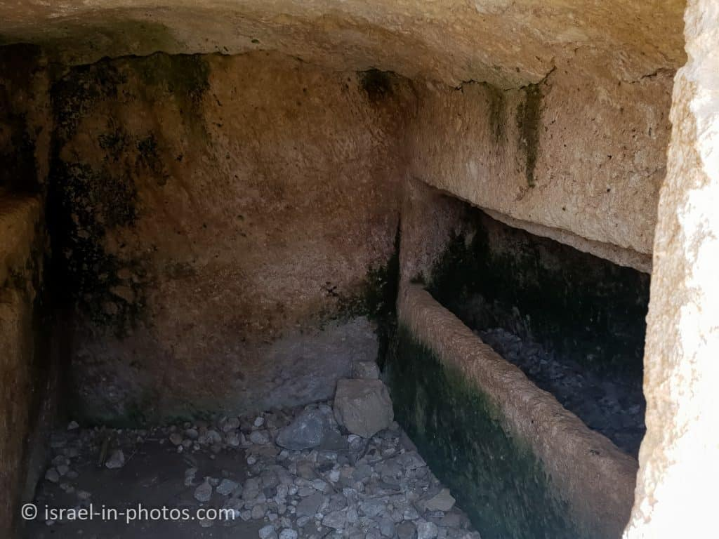 Inside the burial cave