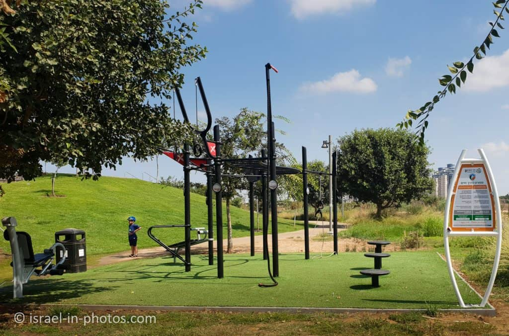 Fitness complex at Hod HaSharon Park