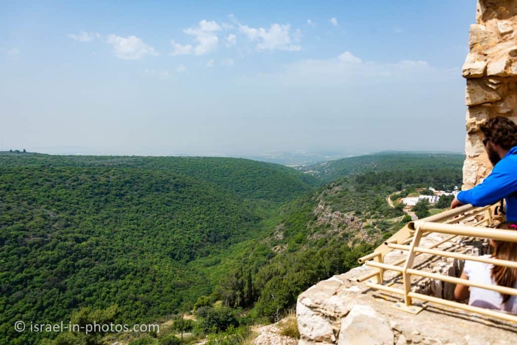 View towards the sea from the Crusader Tower, Yehiam Fortress